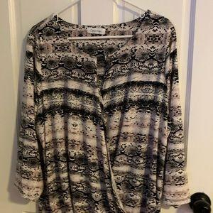 Calvin Klein blouse patterned